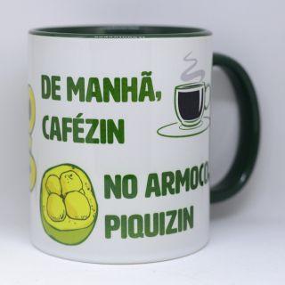 Caneca de manhã cafézin, armoço piquizin 320ml