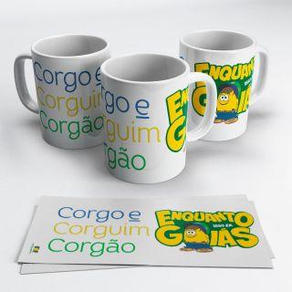 Caneca Somos Todos Goiás - Corgo, Corguin e Corgão