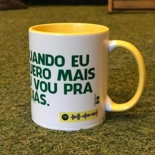 """Caneca Spotify - """"Quando eu quero mais eu vou pra Goiás"""""""