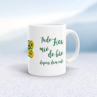 Caneca Tudo fica mió depois dum café