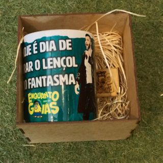 Kit Caneca porcelana - Lençol do Fantasma 2x1