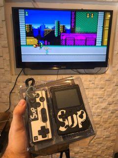 Video Game Portatil + Controle 400 Jogos Internos
