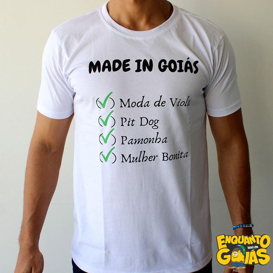 """Camiseta """"Made in Goiás"""""""