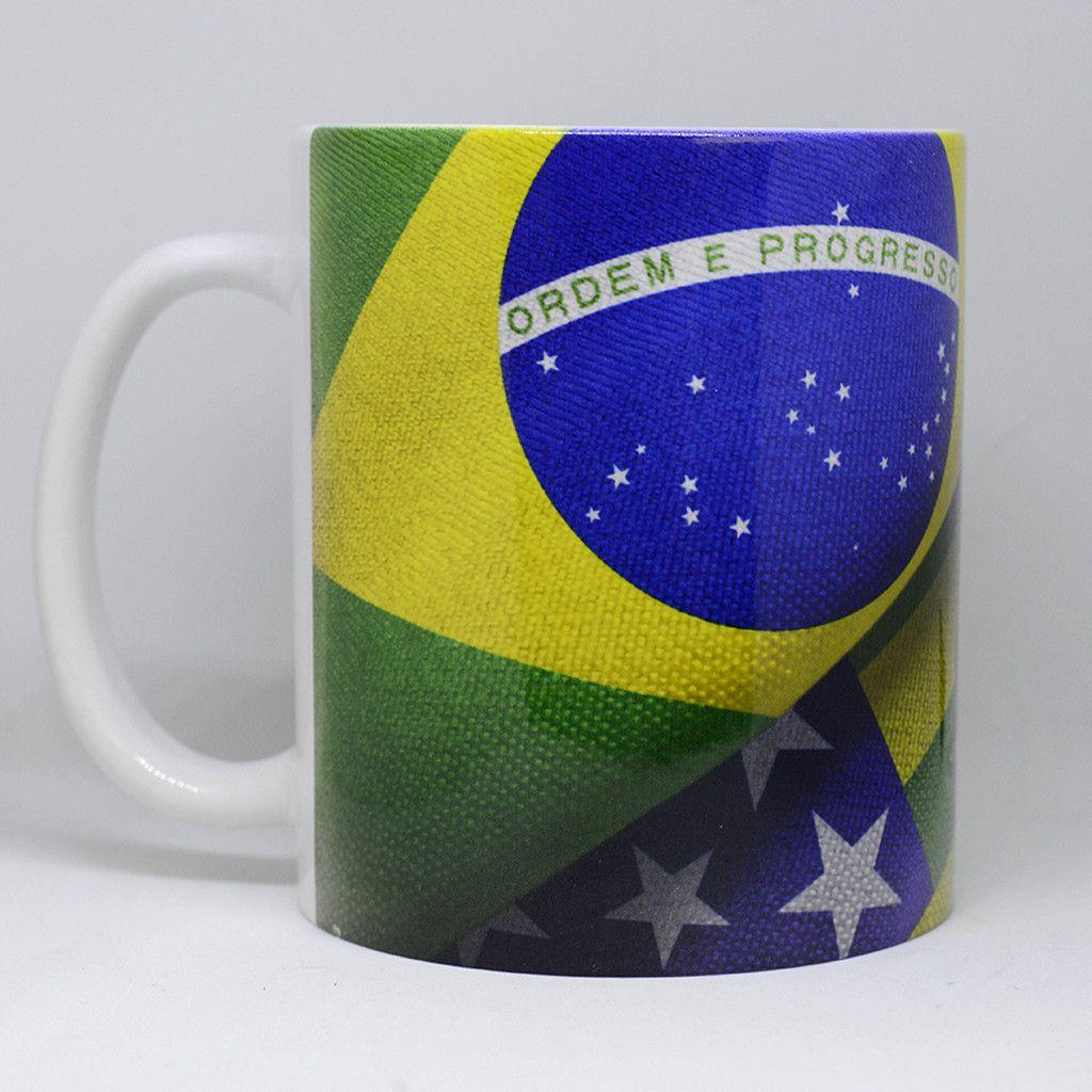 Caneca Bandeira do Estado de Goiás e Brasil - Piquizito