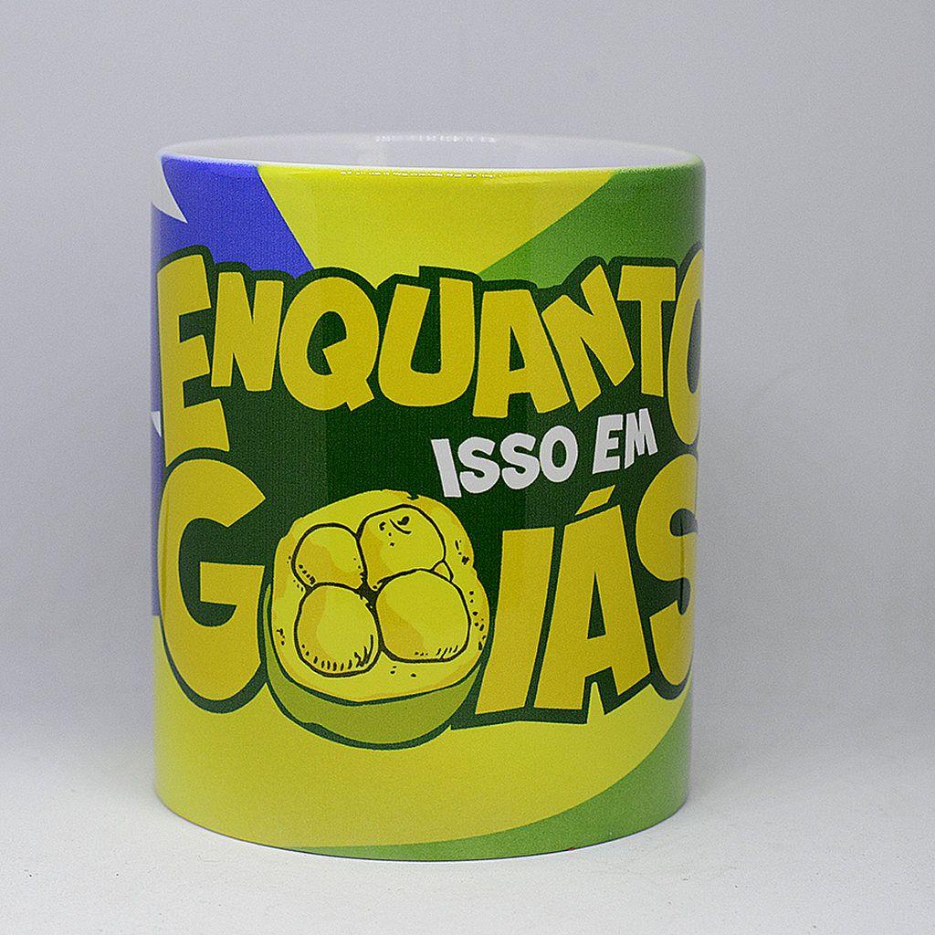 Caneca Bandeira do Estado de Goiás - Estrela