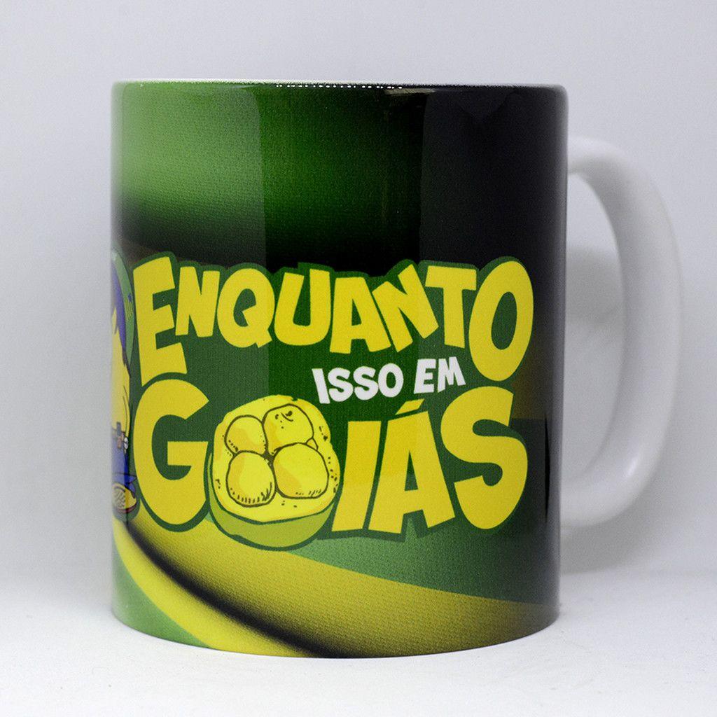 Caneca Bandeira do Estado de Goiás modelo2 - Piquizito