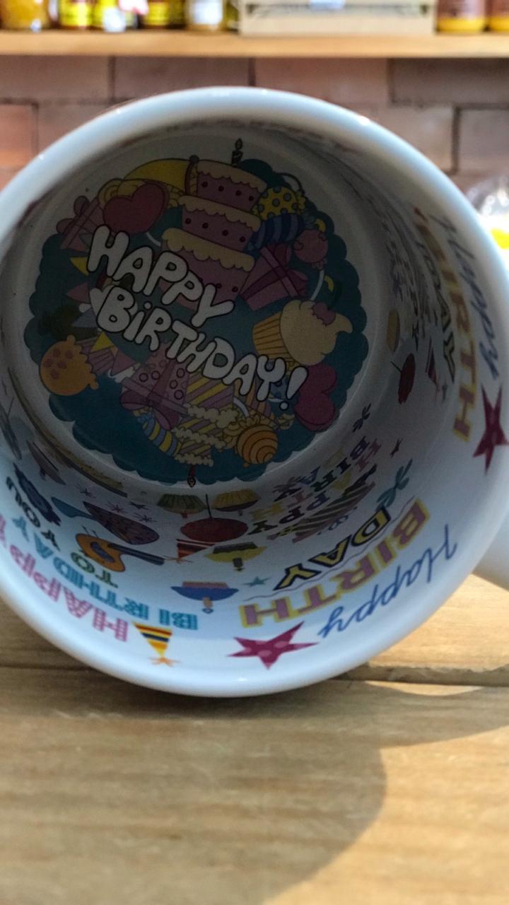 Caneca de Aniversário fundo personalizado