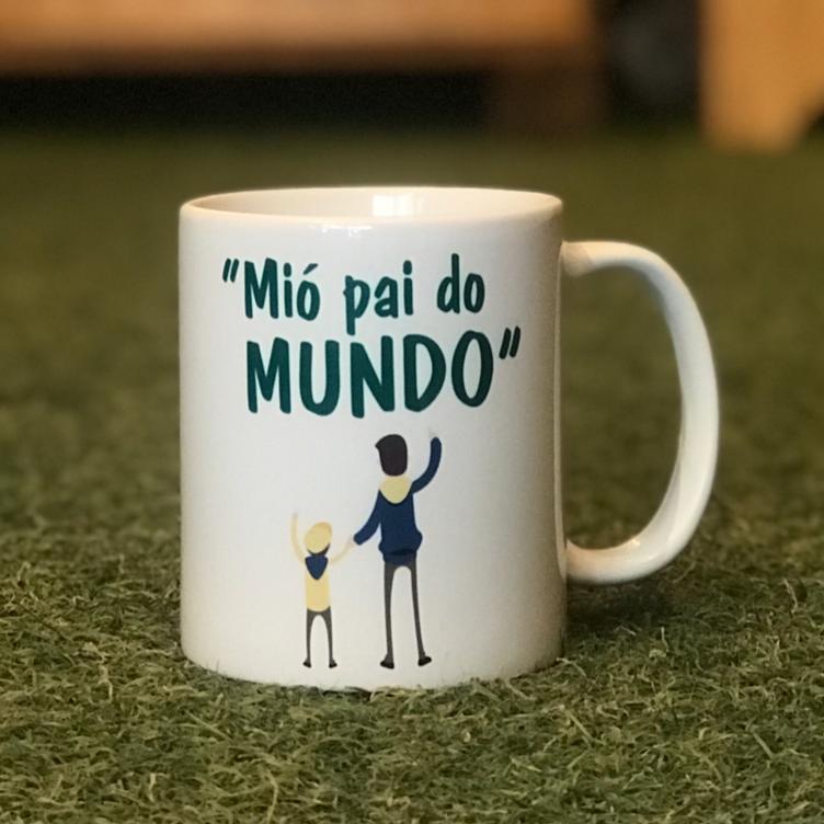 """Caneca dia dos pais - """"Mió pai do Mundo"""""""