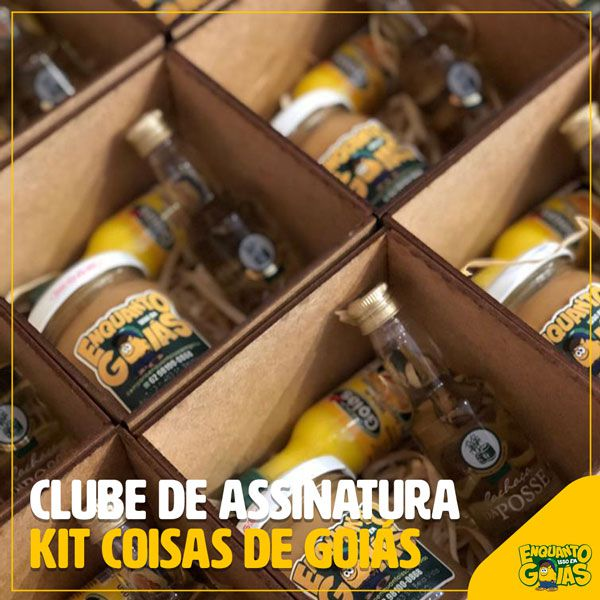 """Clube de Assinatura Kit """"Coisas de Goiás"""""""