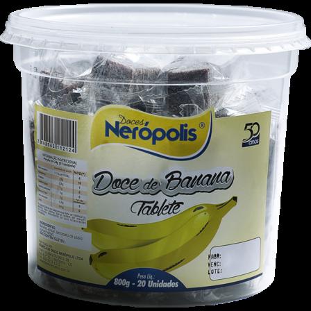 Doce de Banana em Tablete | Pote 800G