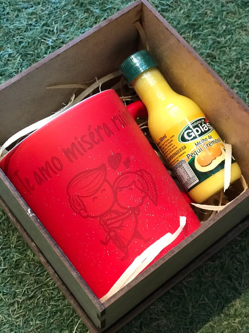 Kit dia dos Namorados - Caneca mágica Te amo miséra ruim