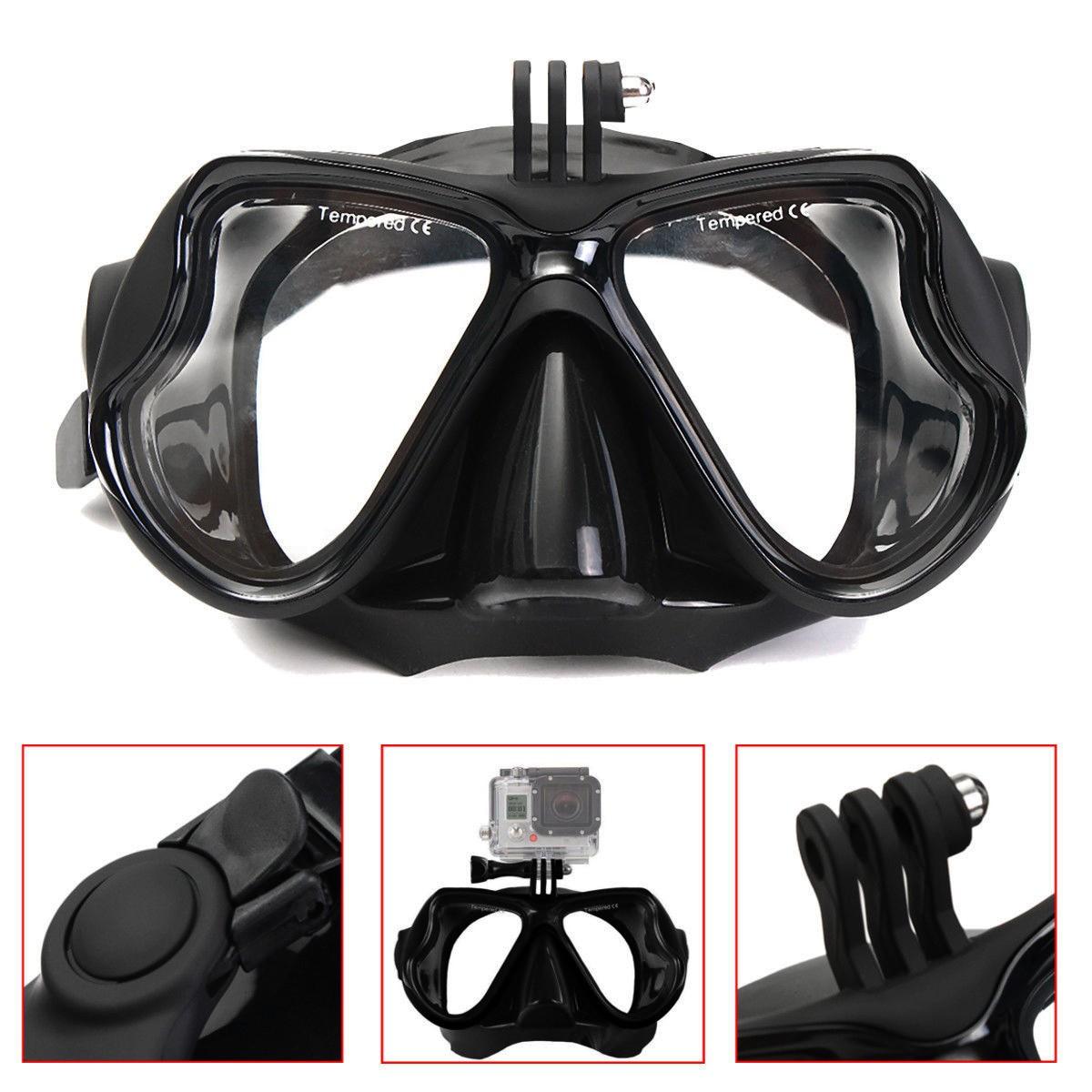 7c55468fc Máscara de óculos para Mergulho Snorkel para câmera de Ação