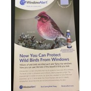 Adesivo estático protetor de pássaros - Window Alert - 4 Unidades