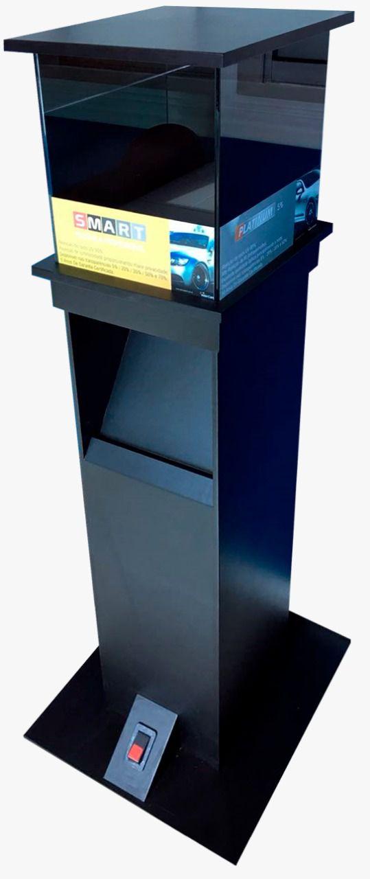 Caixa giratória de calor com pedestal