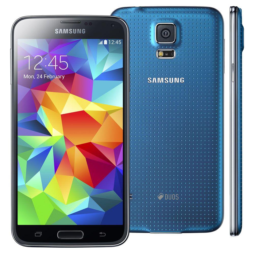 SAMSUNG - Galaxy S5 Preto/Azul