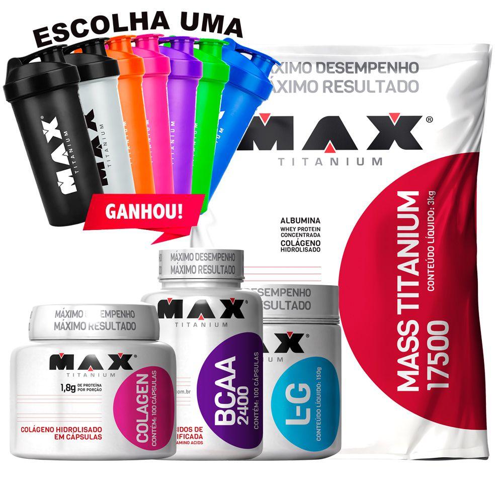 8e41925c6 Kit Mass Titanium Glutamina Bcaa Colagen + Coq Max Titanium - WA ...