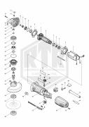 PEÇAS DE REPOSICAO - ESMERILHADEIRA ANG 115MM (4 1/2POL) MAKITA GA4530-220V