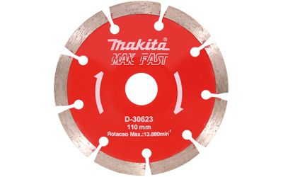 DISCO CÔNCAVO REBOLO DIAM. CONC SEGM 110MM MAKITA D-30623