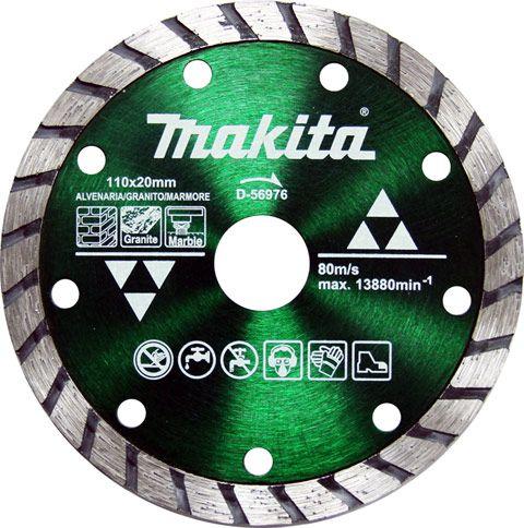 DISCO DIAMANTADO MAXTURBO CORTE 110X20MM MAKITA D-56976  - RTR