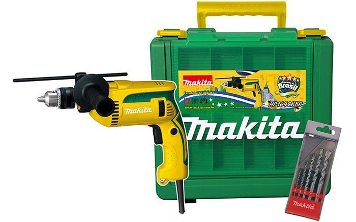FURADEIRA DE IMPACTOR 16MM MAKITA HP1640KBR-220V