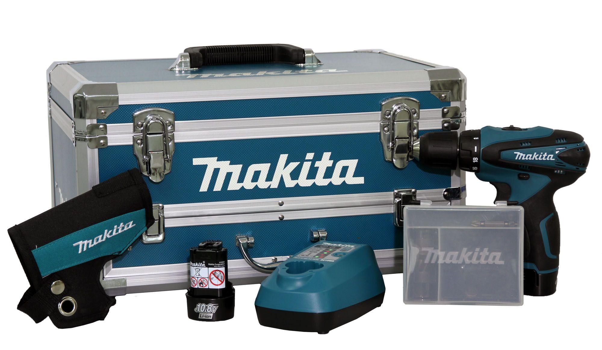 PARAFUSADEIRA/FURADEIRA A BATERIA 12V MAKITA DF330DWEX3-220V