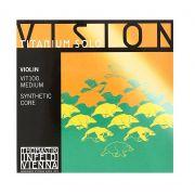 Encordoamento Thomastik Vision Solo Titanium Violino 4/4