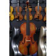 Violino feito à mão modelo strad 4/4 verniz goma laca envelhecido avermelhado