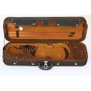 ÚLTIMA PEÇA - Estojo Case Térmico Retangular Super Luxo Para Violino 4/4