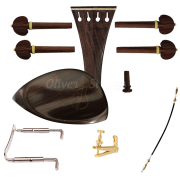 Kit de montagem para violino 4/4 com Queixeira modelo Teka