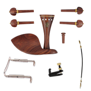 Kit De Montagem Para Violino 4/4 Rosewood  Flor de Lis Completo