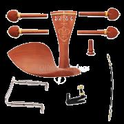 Kit De Montagem Trabalhado Boxwood Para Violino 4/4 COMPLETO