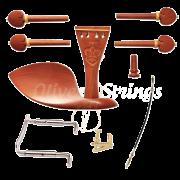 Kit de montagem trabalhado de box wood para violino 4/4