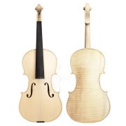 Violino Artesanal com Fundo Inteiro Modelo Strad Branco Inacabado 4/4