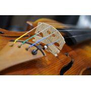Violino feito à mão modelo strad 4/4 verniz goma laca envelhecido