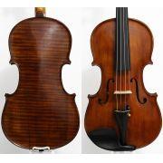 Violino feito à mão modelo strad 4/4 verniz goma laca escuro