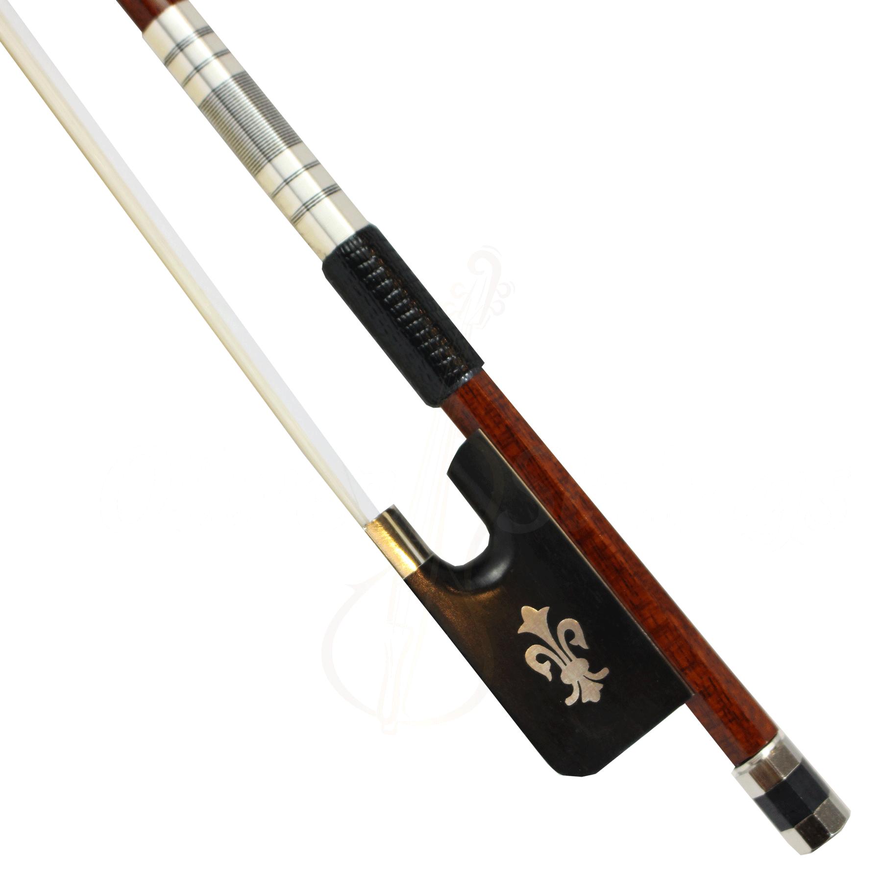 Arco em pau brasil e fibra de carbono flor de lis para violoncelo