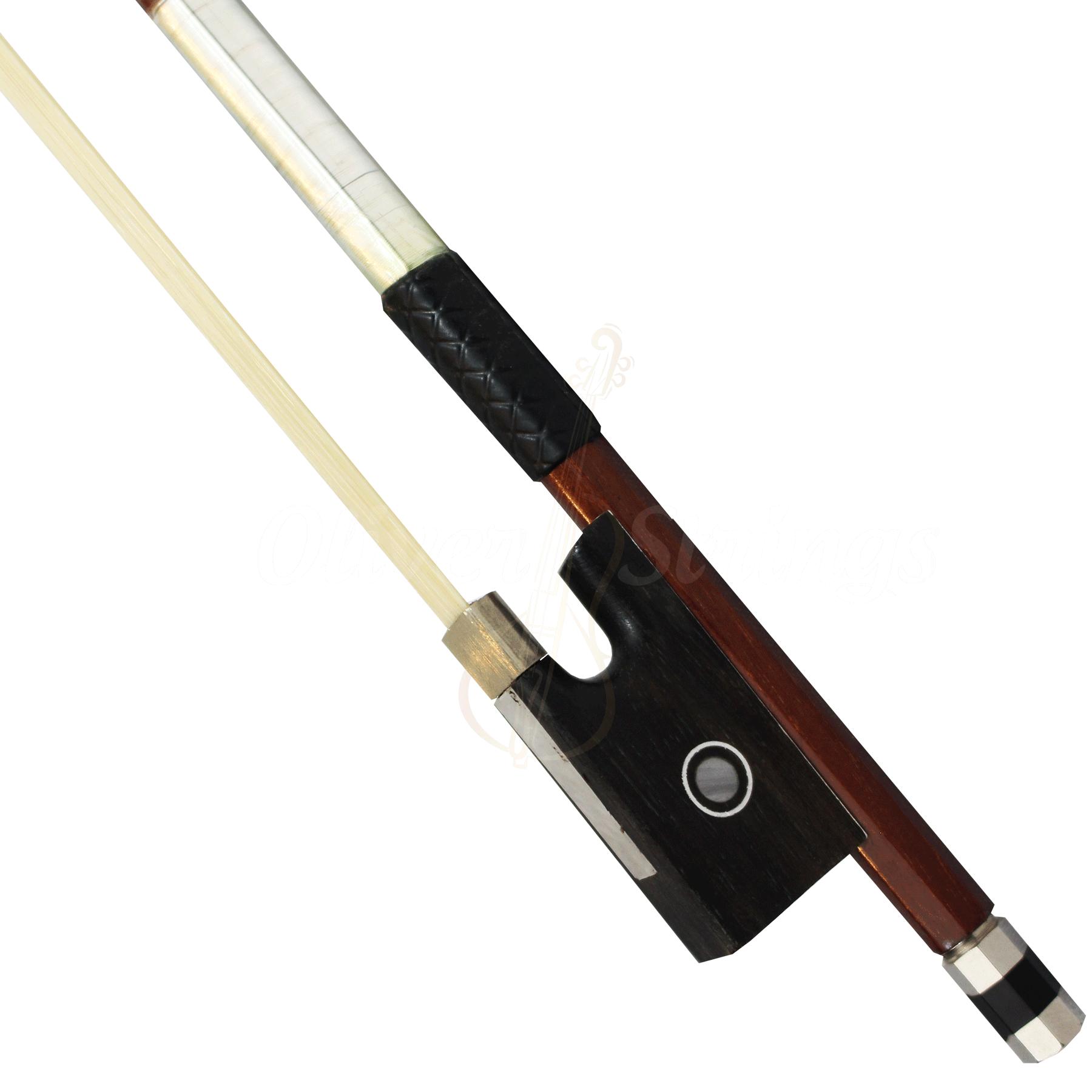 Arco estudante oitavado com couro detalhado para violino 4/4