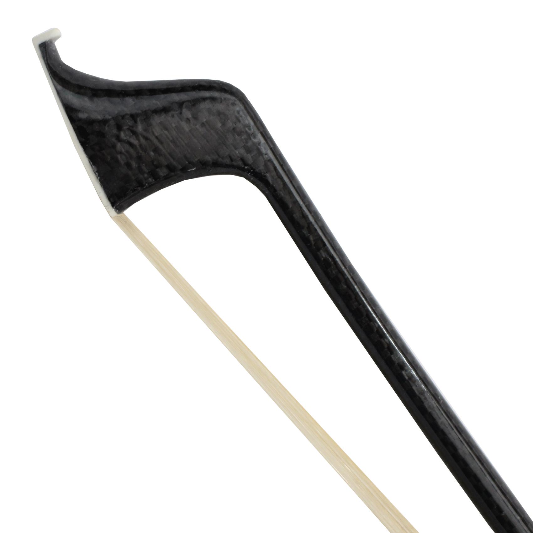 Arco fibra de carbono francês trançado p/ contrabaixo 4/4