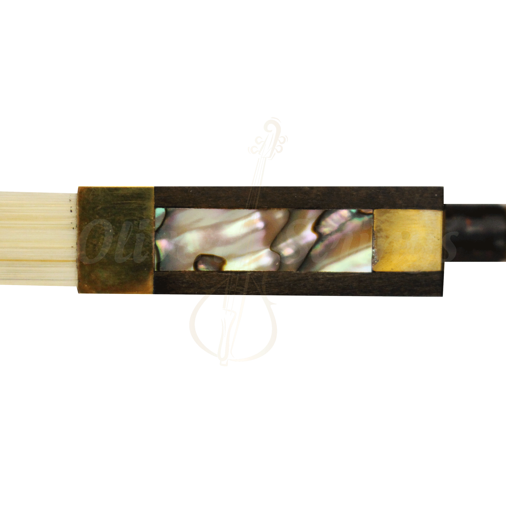Arco fibra de carbono luxo trançado para violino 4/4