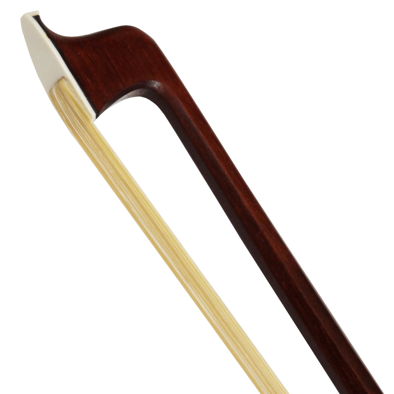 Arco Guarnição Prateada E Abalone Para Violino 4/4