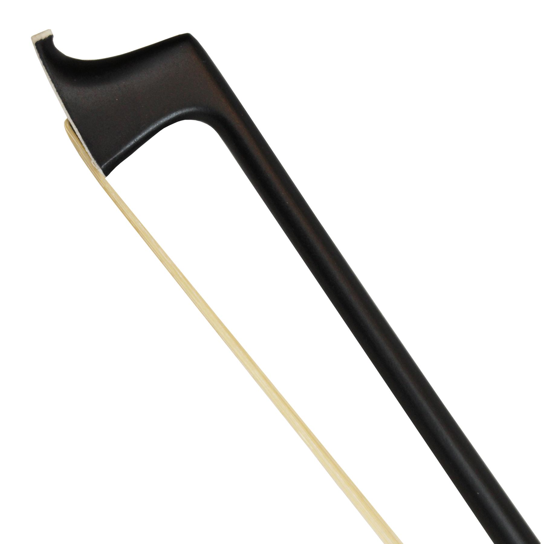 Arco liso em fibra de carbono preto para violino 4/4