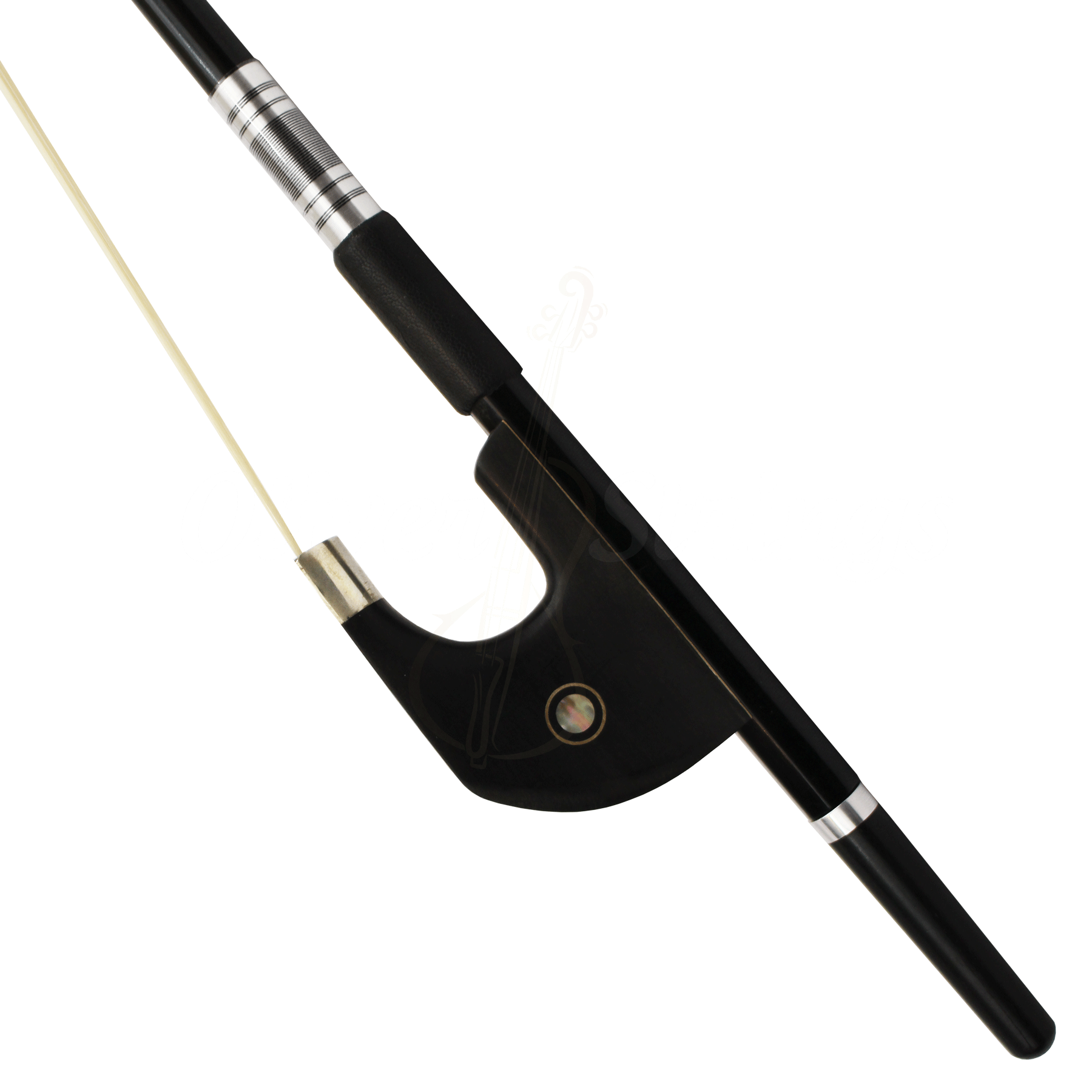 Arco modelo alemão liso em fibra de carbono contrabaixo 4/4