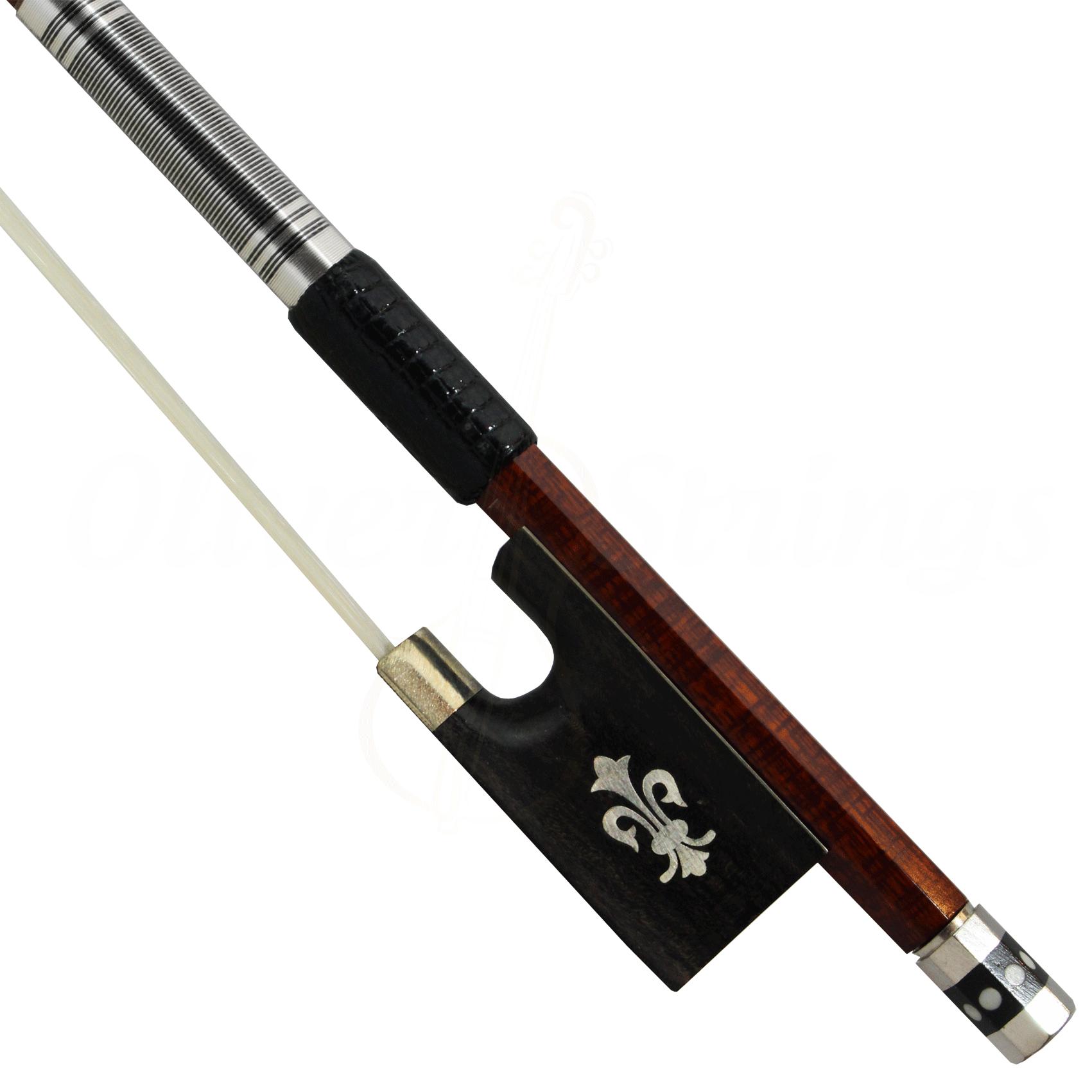 Arco Misto de Fibra de Carbono e Madeira Flor De Lis Violino 4/4