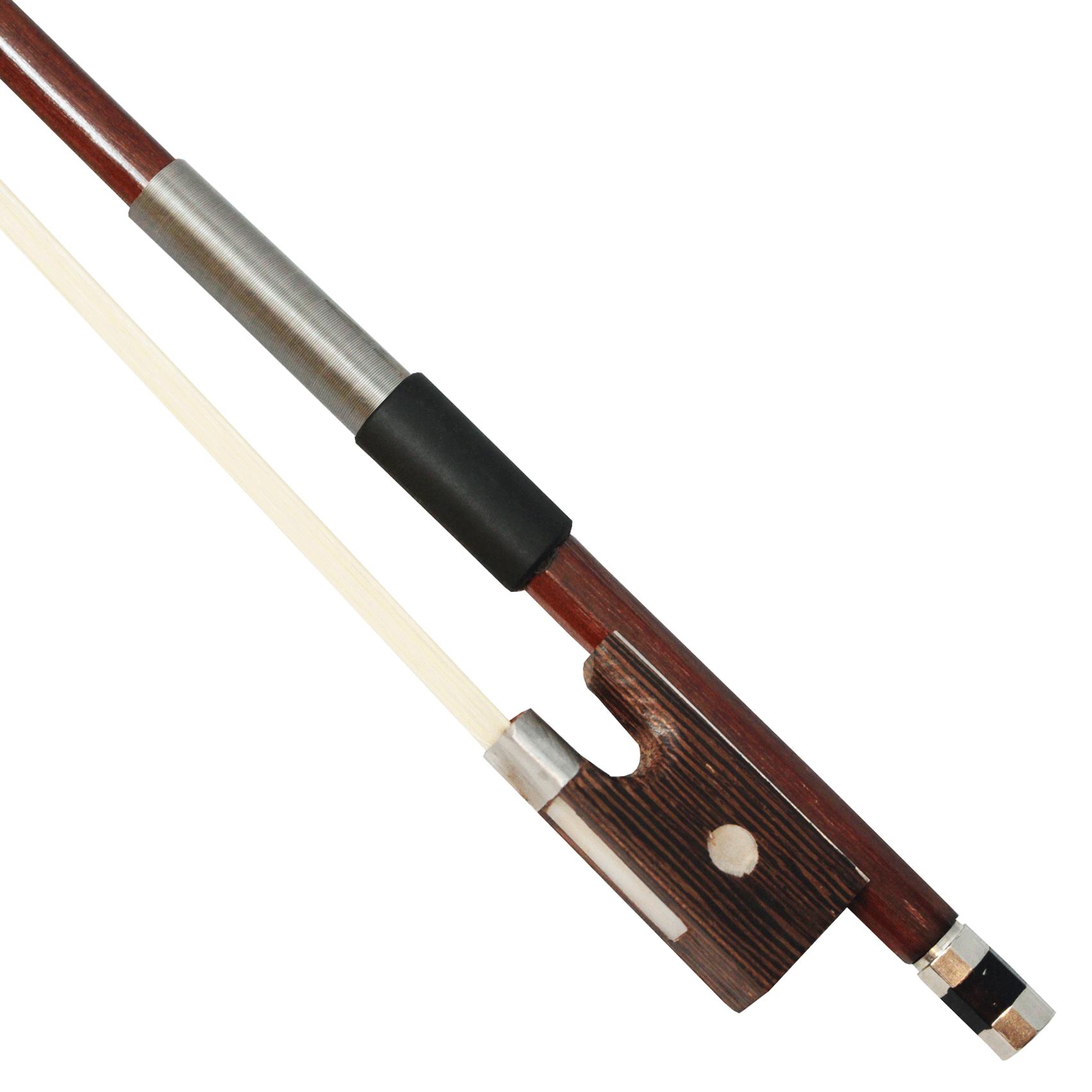 Arco redondo iniciante para violino com guarnição cromada crina branca