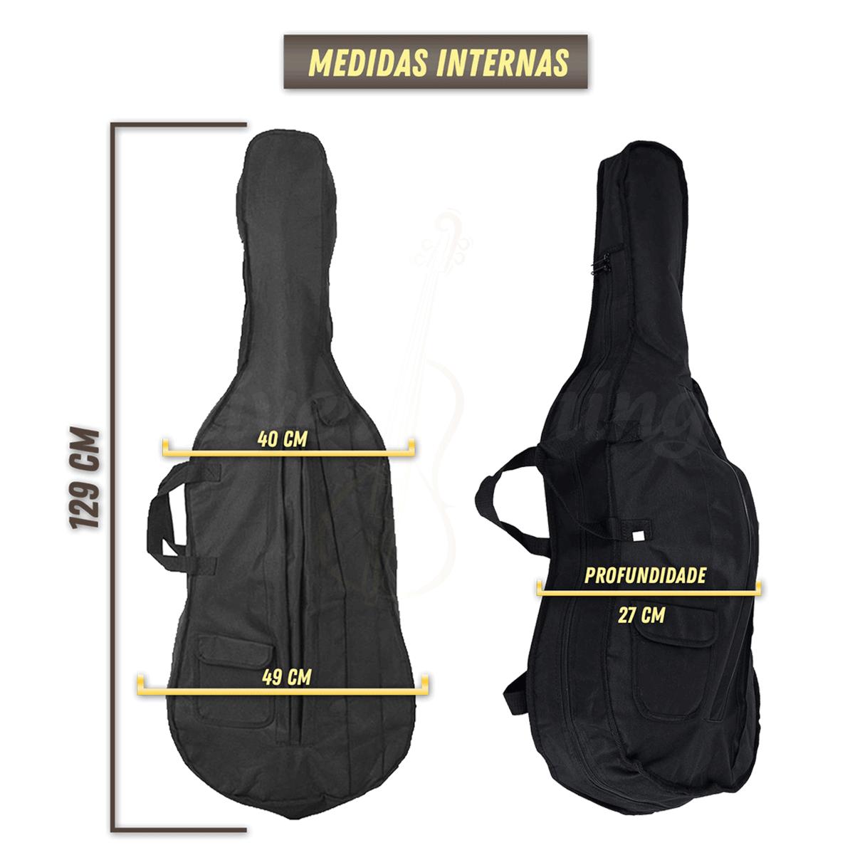 Bag Capa Violoncelo Cello Reforçada Extra Luxo 4/4