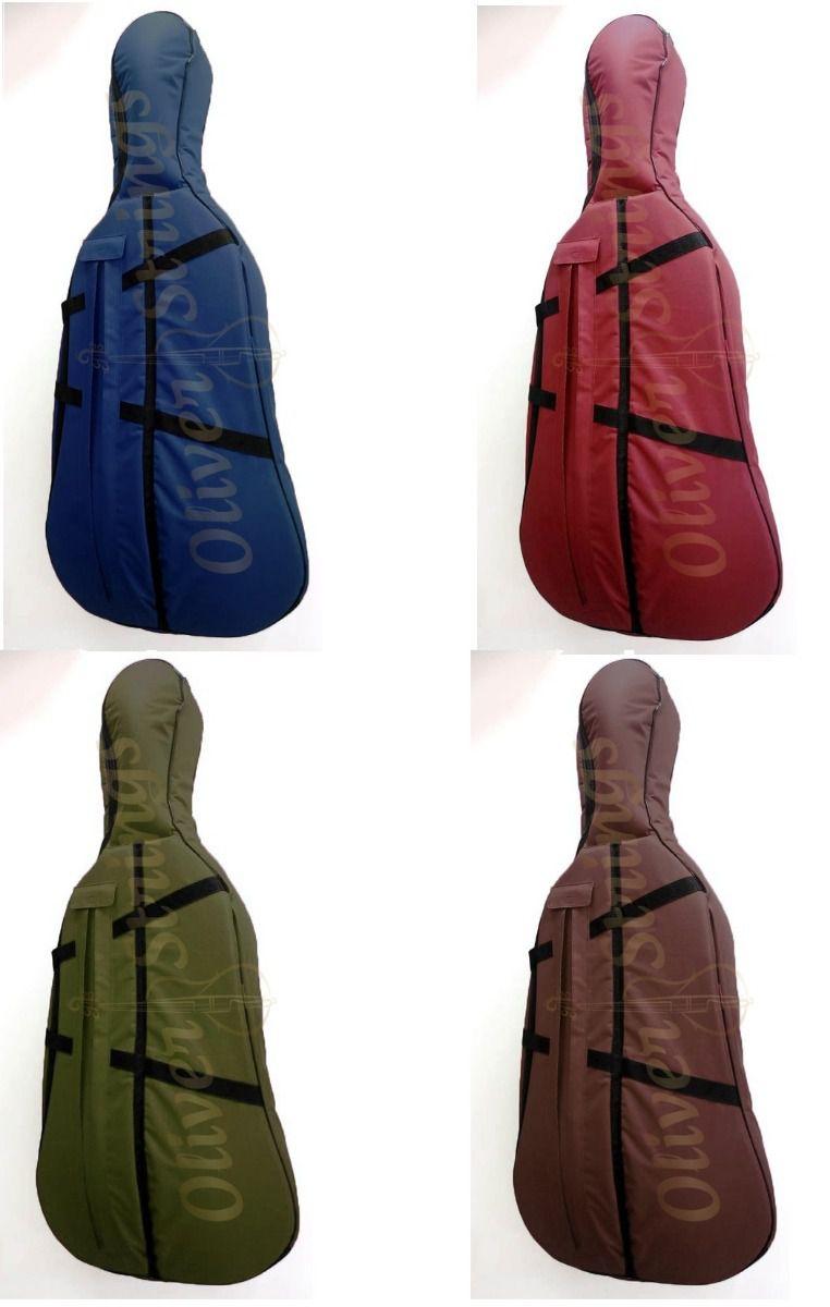 Capa Violoncelo Cello Reforçada Extra Luxo 4/4 colorida