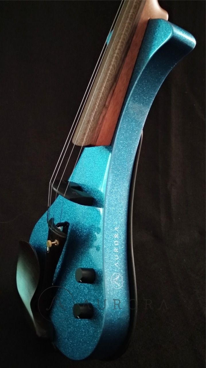 Violino Profissional 4/4 Elétrico Aurora WS  azul sparkle