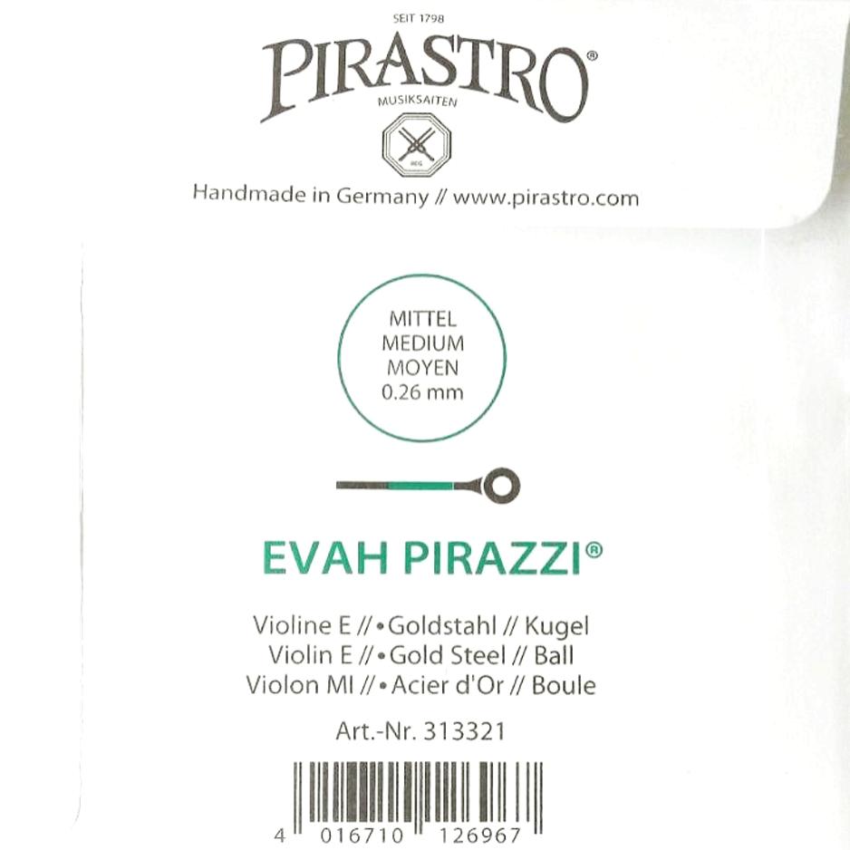 Corda Avulsa Mi Violino 4/4 - Pirastro Evah Pirazzi - Dourada