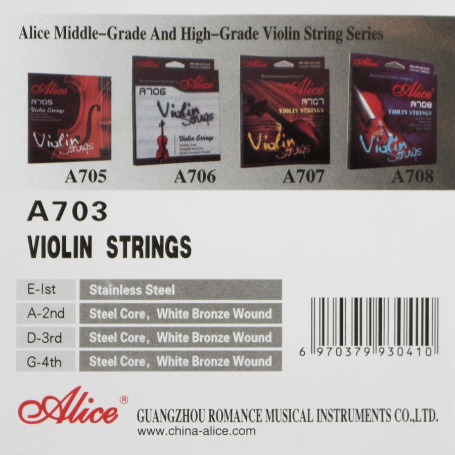Encordoamento De Aço Alice Para Violino 4/4