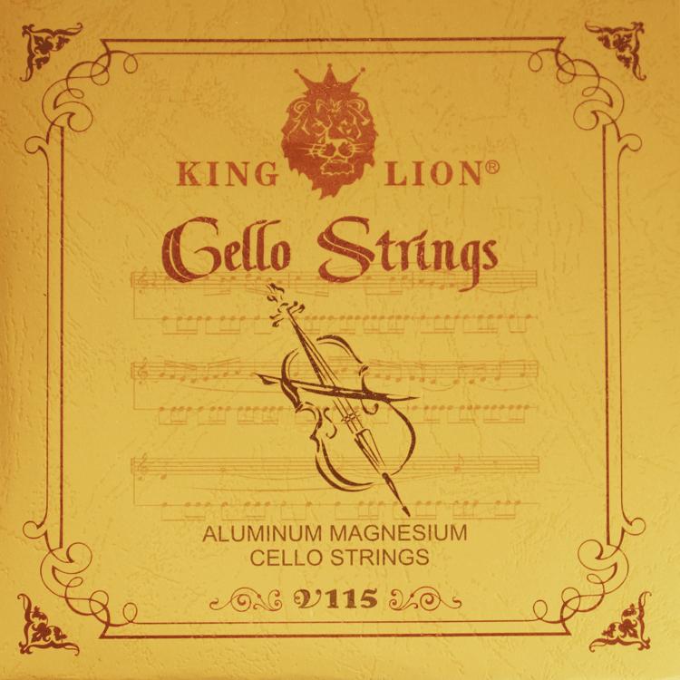 Encordoamento King Lion para violoncelo: Alumínio Magnésio